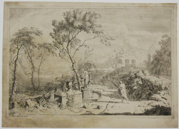 [Landscape with a fountain]