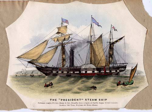 The 'President' Steam Ship.