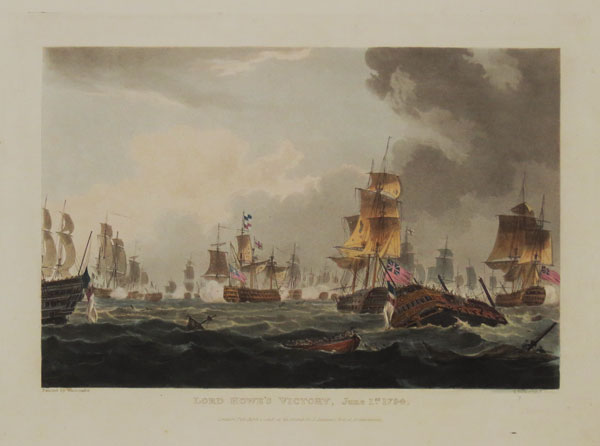 Lord Howe's Victory, June 1.st. 1794. Plate II.