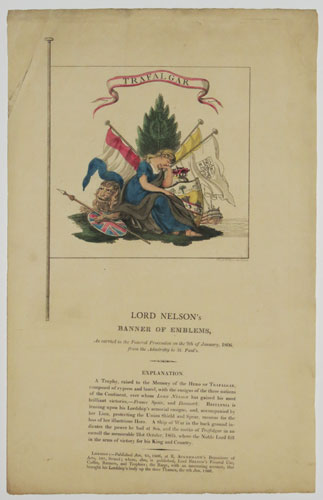 Lord Nelson's Banner of Emblems,