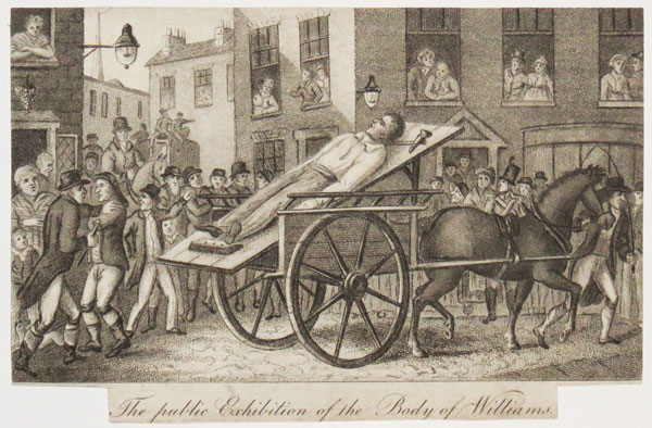 The public Exhibition of the Body of Williams.