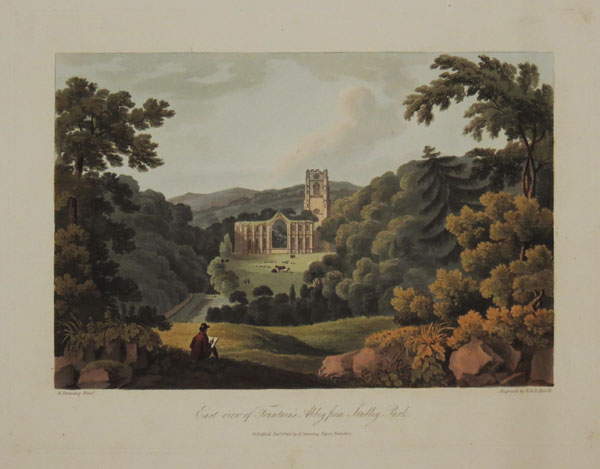East view of Fountain's Abbey from Studley Park.