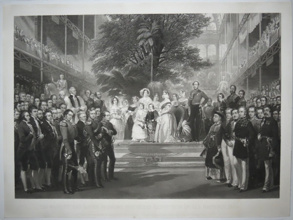 Her Majesty The Queen Opening the Great Exhibition of All Nations, 1851.