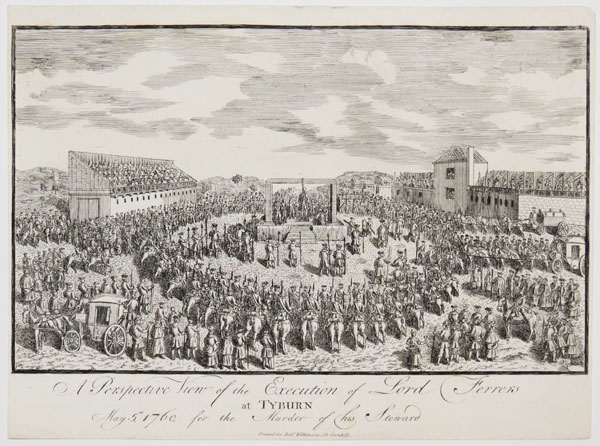 A Perspective View of the Execution of Lord Ferrers at Tyburn.