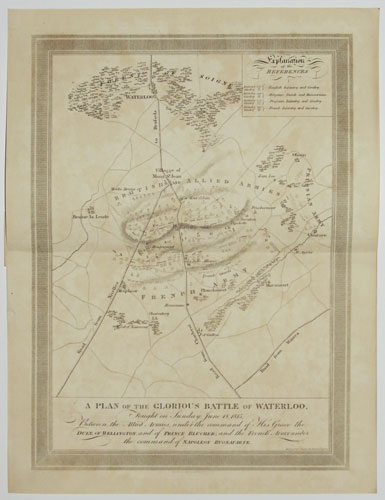 A Plan of the Glorious Battle of Waterloo,