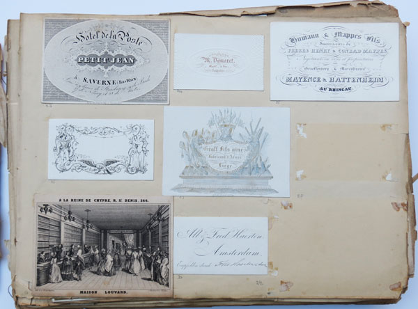 [A collection of Trade Cards in four Albums.]