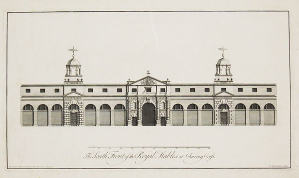 The South Front of the Royal Stables at Charing Cross.