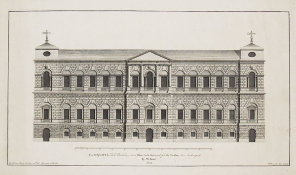 His Majesty's New Building near White-hall Intended for the Treasury &c.