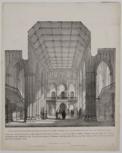 Transverse Secitonal Perspective of the Lobby to the New House of Commons as proposed by Francis Goodwin Architect [...]