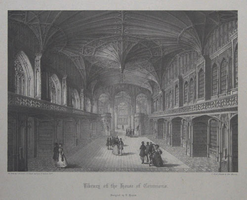 Library of the House of Commons. Designed by T. Hopper.