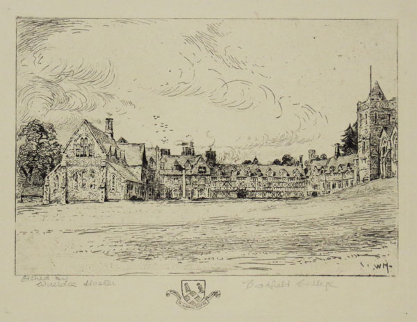 Bradfield College [in pencil to the right.]