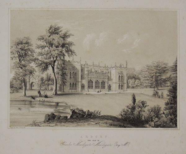 Arbury, The Seat of Charles Newdigate Newdegate, Esq.re M.P.