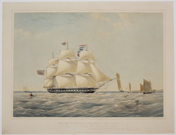 The Alfred, East-Indiaman, 1400 Tons. To Captain A. Henning & the Officers of the Ship This print is respectfully dedicated by their obedient servent, William Foster.