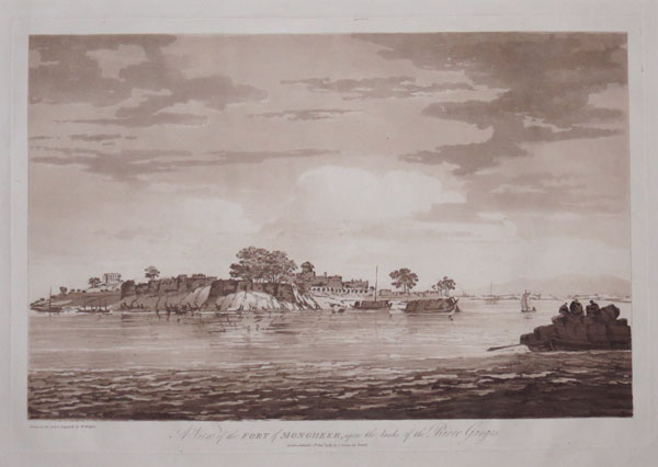A View of the Fort of Mongheer, upon the banks of the River Ganges.