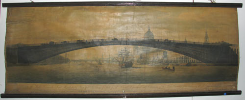To the Right Honourable Lord Hawkesbury, Principal Secretary of State for the Foreign Department, and Chairman of the Select Committee for Improving the Port of London, This Perspective View of the Design for A Cast Iron Bridge,