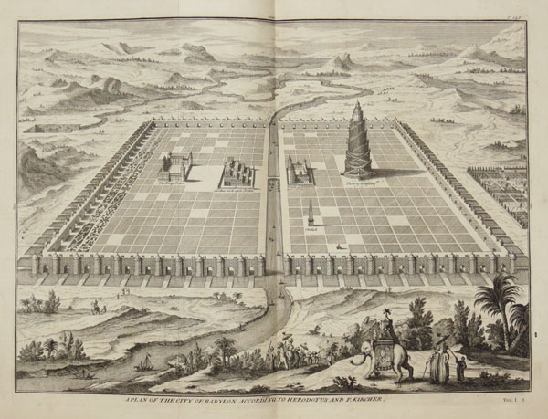 A Plan of the City of Babylon According to Herodotus and F. Kircher.