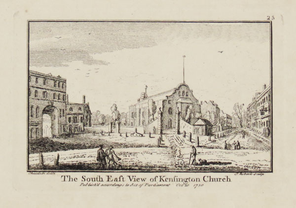 The South East View of Kensington Church. 25