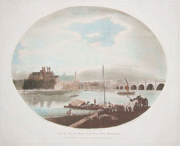View near Westminster Bridge. - From a Picture in the Possession of David Garrick Esqr.,.