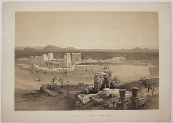 General View of the Island of Philae, Nubia. Nov.r 18th, 1838.