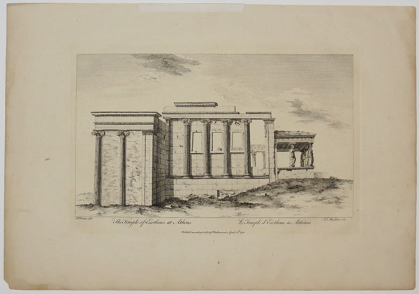 The Temple of Erictheus at Athens.