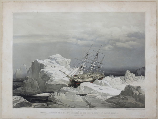 Critical Position of H.M.S Investigator on the North-Coast of Baring Island.