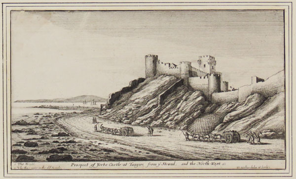Prospect of Yorke Castle at Tangier, from ye Strand, and the North-West.