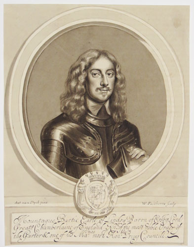 Mountague Bartie Earle of Lindsy Baron of Ersbvy Lord Great Chamberlain of England [...]