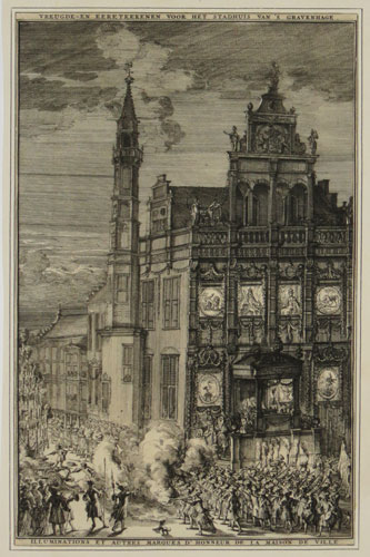 [Celebrations in front of City Hall in the Hague in honour of the visit of William III]