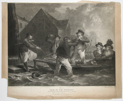 Plate. 2.  Jack in the Bilboes, From M.r Dibdin's celebrated Song, call'd My Poll & my partner Joe.