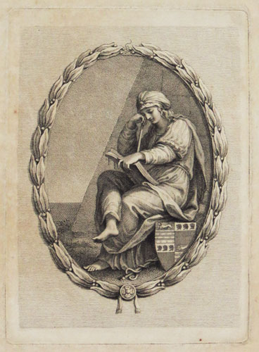 [Bookplate of John Currer, etched by Francesco Bartolozzi, 1795]
