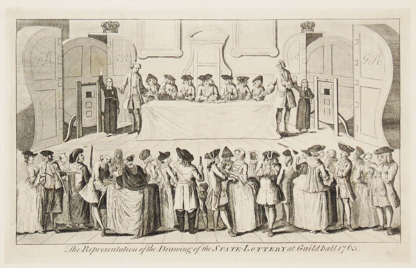 The Representation of the Drawing of the State-Lottery at Guildhall, 1763.