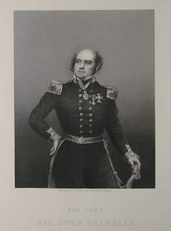The Late Sir John Franklin. The Drawing Room Portrait Gallery of Eminent Personages. Presented with the Illustrated News of the World.