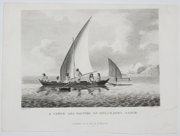 A Canoe and Natives of Mulgrave's Range.
