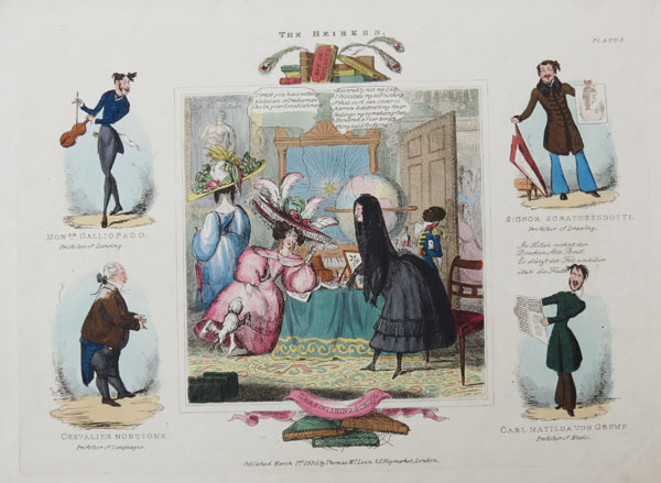 The Heiress: Plate 3. The Finishing School.