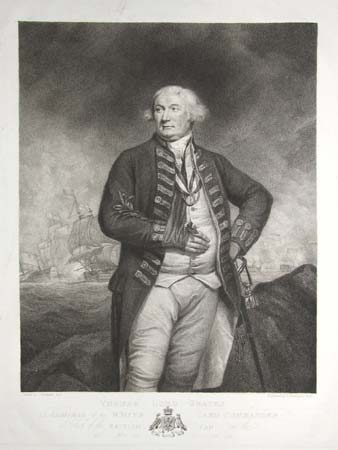 Thomas Lord Graves  Admiral of the White And Commander in Chief of the British Van on the 29th of May and 1st of June 1794.