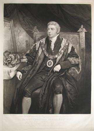 The Court of Assistants of the New Plantation in Ulster within the Realm of Ireland.  This Print of Harvey Christian Combe Esqr. M.P.  Governor of the Honble. the Irish Society, London,  From the original Picture, in the Irish Chamber, Guildhall London.