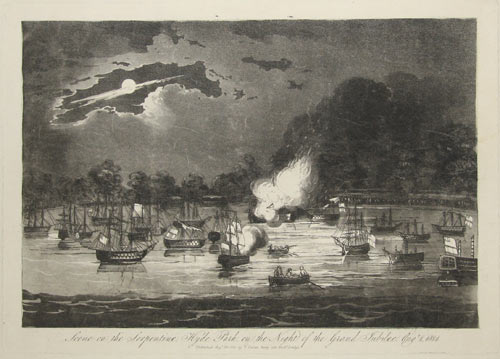 Scene on the Serpentine, Hyde Park, on the Night of the Grand Jubilee. Augt. 1814.