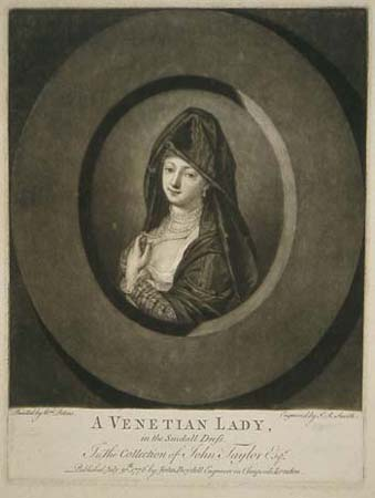 A Venetian Lady in the Sindall Dress. In the Collection of John Taylor Esqr.