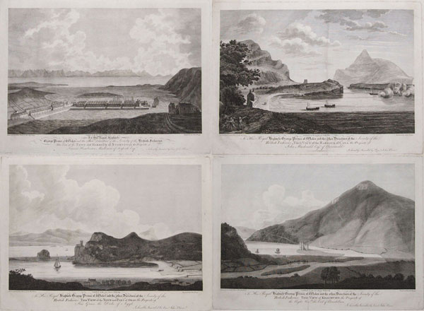 To His Royal Highness George Prince of Wales, and the other Directors of the Society of the British Fisheries [dedication preface to all plates] This View of the Town and Harbour of Stornoway/ This View of Kilichuirn/