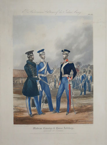 Madras Cavalry & Horse Artillery. Officers in Undress.