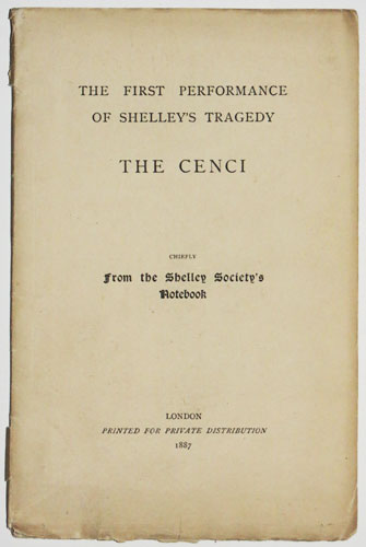 The First Performance of Shelley's Tragedy The Cenci