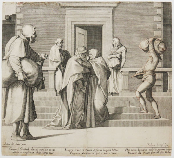 [The Visitation of the Virgin to her Cousin Elizabeth.]