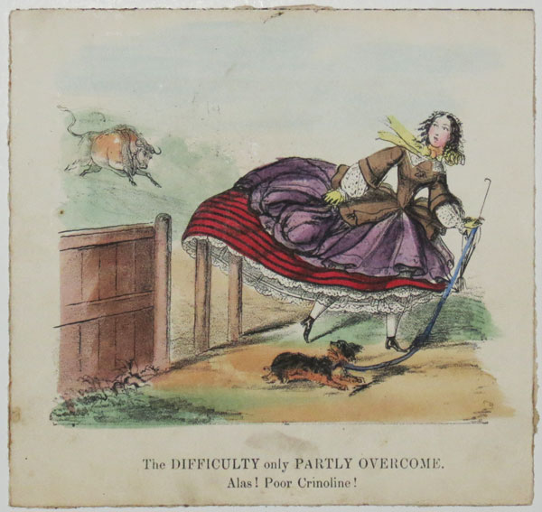 The Diddiculty only Partly Overcome. Alas! Poor Crinoline!