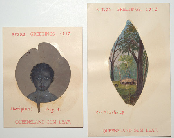 Xmas Greetings 1913. Queensland Gum Leaf.