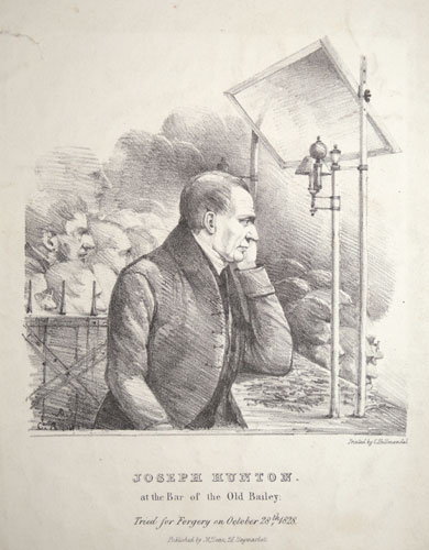 Joseph Hunton, at the Bar of the Old Bailey: Tried for Forgery on October 28th 1828.