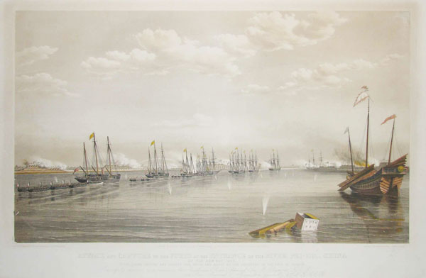 Attack and Capture of the Forts at the Entrance of the River Pei-Ho_ China on the 20th May 1858. By the Allied British and French Gun Boats and Boats of the Squadron in the Gulf of Pechili.