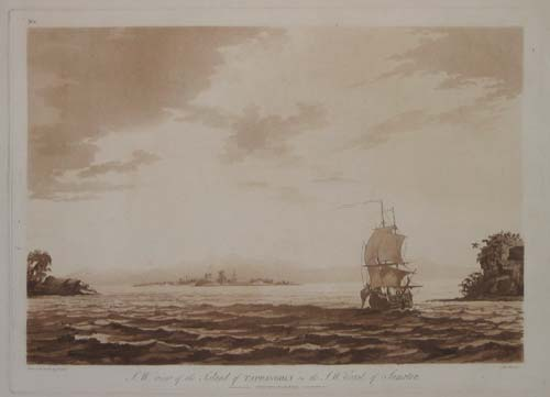 S.W. view of the Island of Tappanooly on the S.W. Coast of Sumatra.