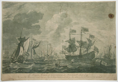 To Morgan Morgan of Lanrumney in Monmouth-Shire Esq.r This View of the Fleet which brought home his Majesty King Charles II.d in May 1660, is humbly Dedicated by E.Kirkall.