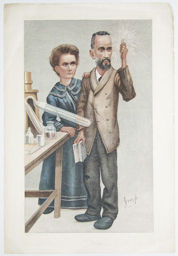 Radium. [Caricature of Monsieur & Madame Curie]