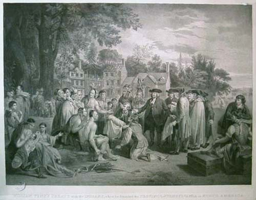 William Penn's Treaty with the Indians, when he founded the Province of Pensylvania in North America.